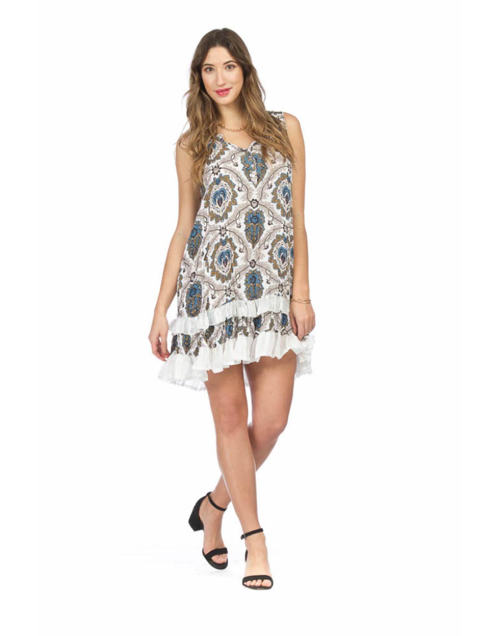 Papillon Ruffle Hem Dress