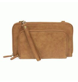Joy Susan Brushed Mini Convertible Zip Around Wristlet