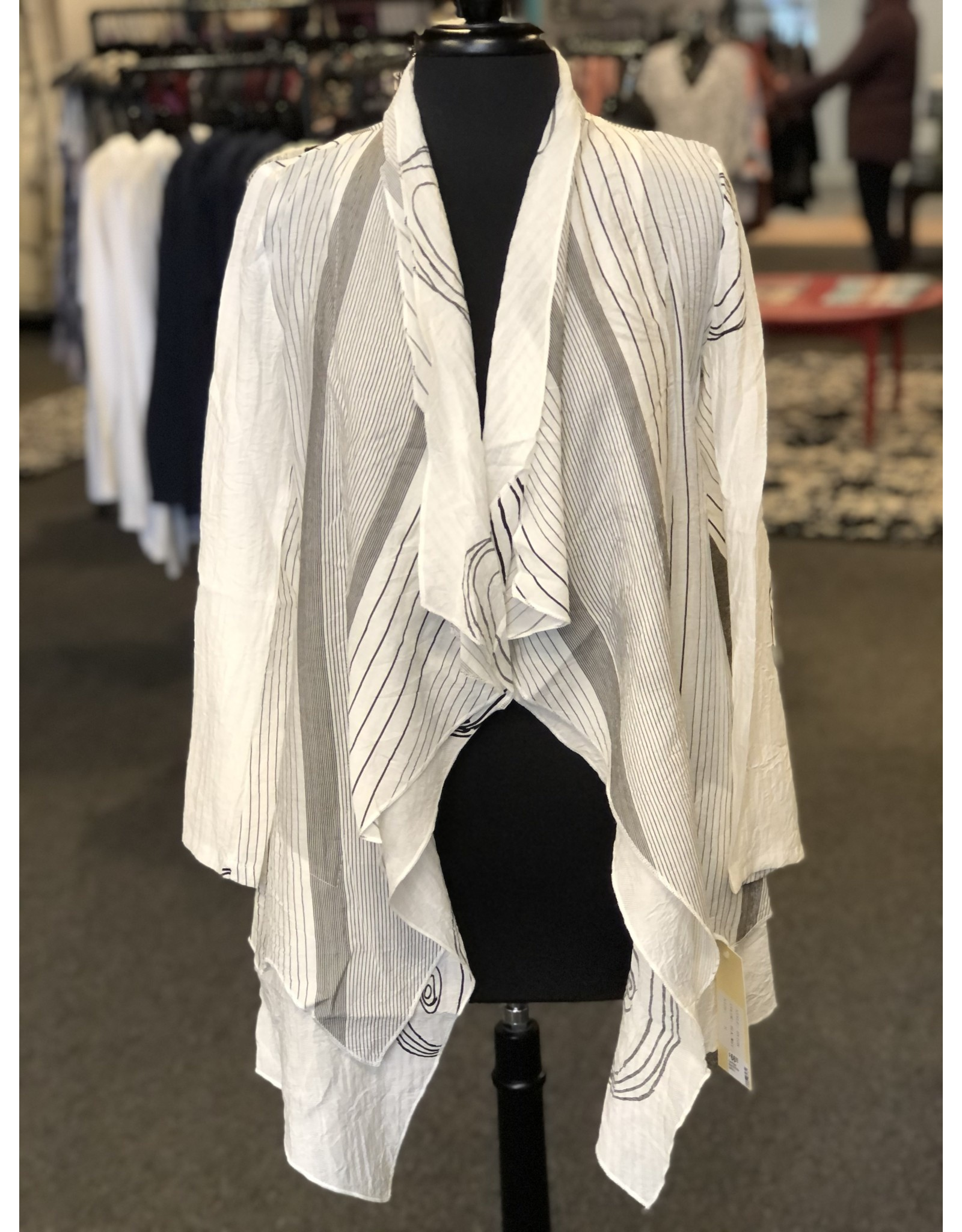 Vintage Concept Detailed Double Collar Cardigan
