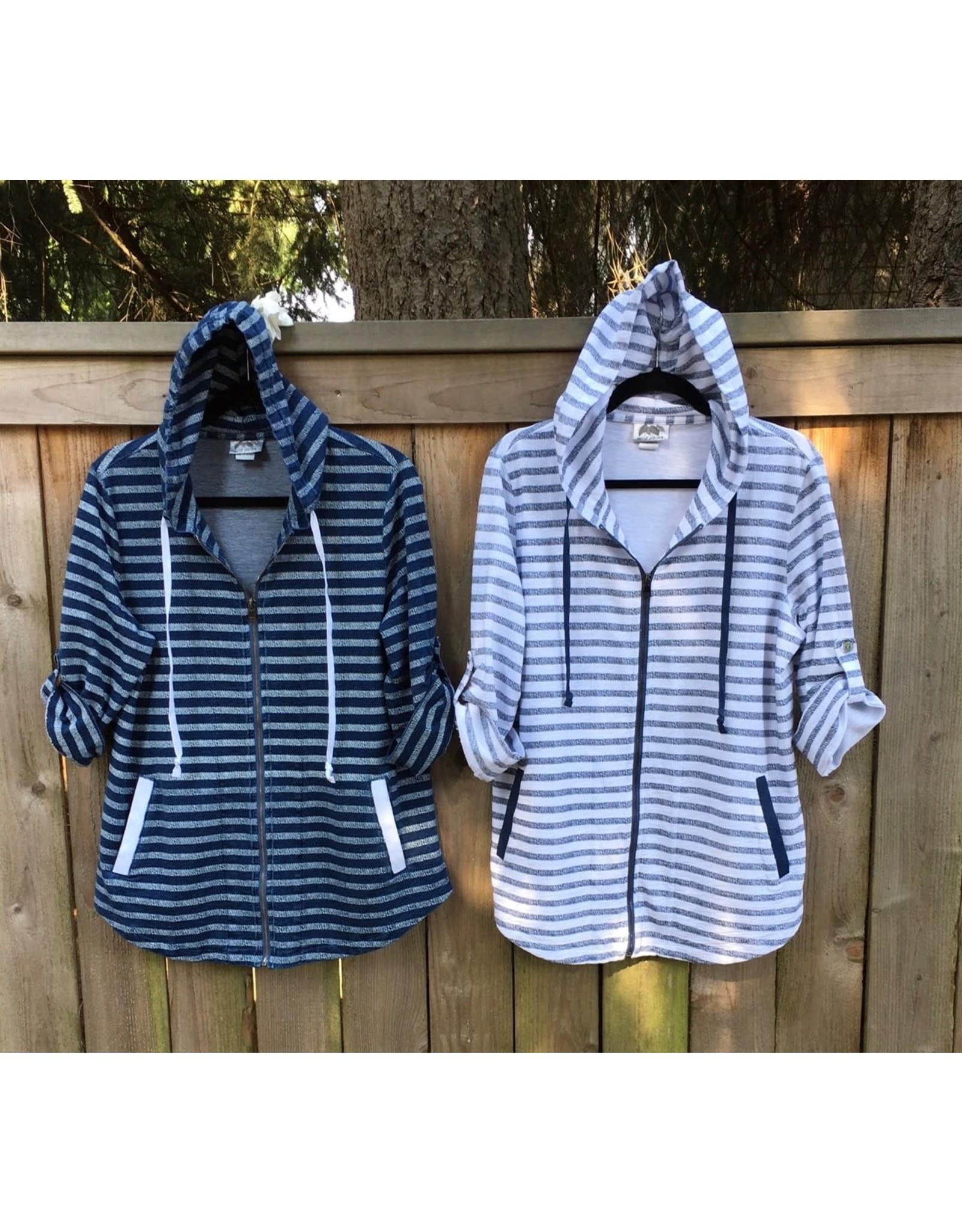 Wild Palms Shadow Stripe Zip-Front Jacket