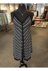 Neesha Irregular Hem Striped Dress