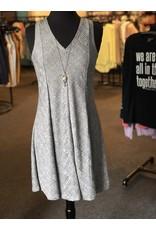 Neesha Metallic A-Line Panel Swing Dress