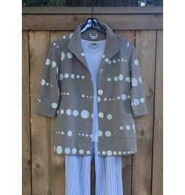 Wild Palms 3/4 Sleeve Button Up Novelty Dot Jacket