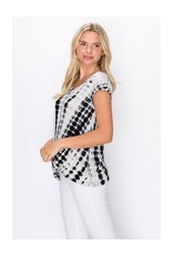 Coin1804 V-Neck Twist Front Top