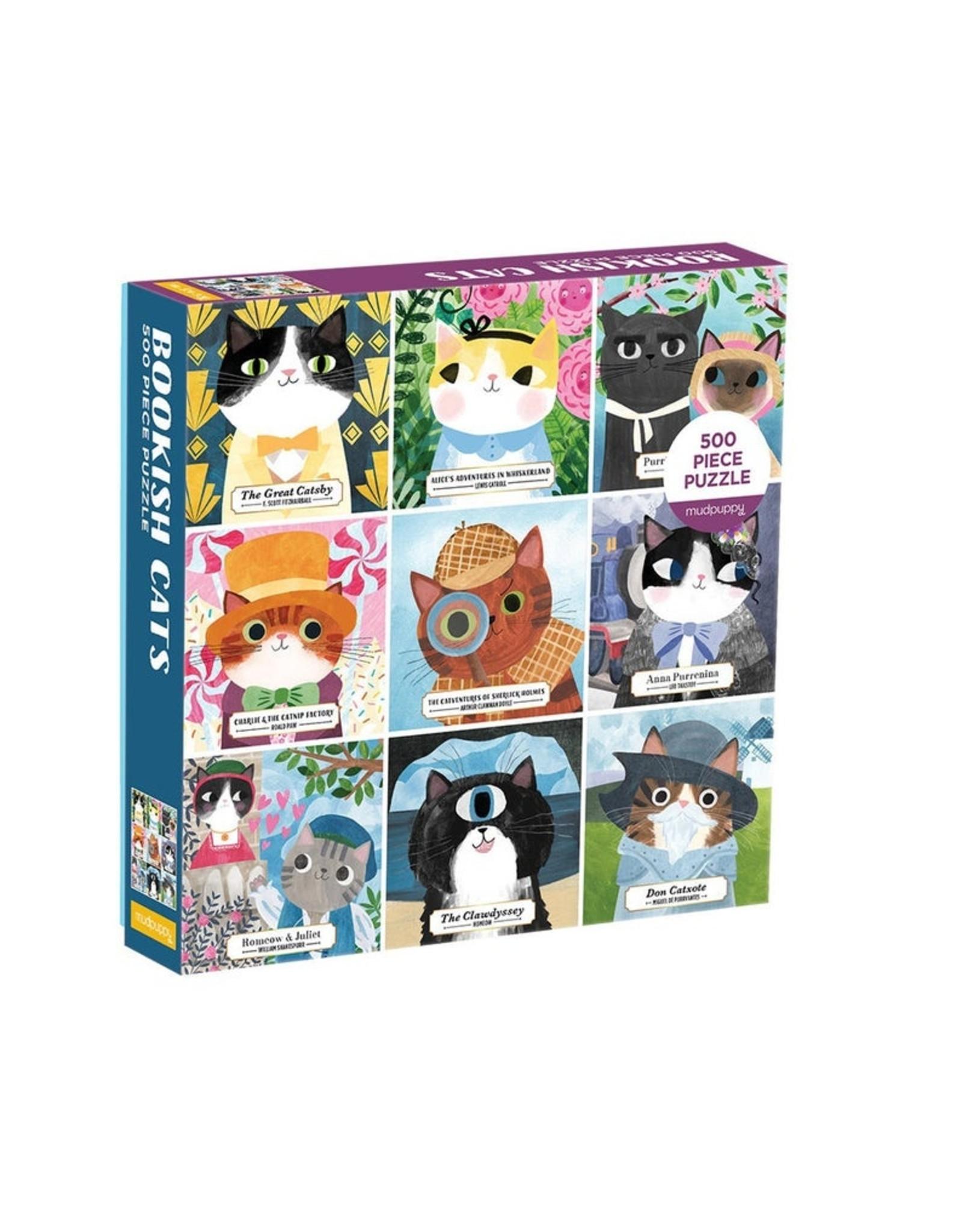 Mudpuppy Family Bookish Cats Puzzle - 500 pc