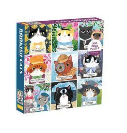 Mudpuppy Family Bookish Cats Puzzle - 500 pc