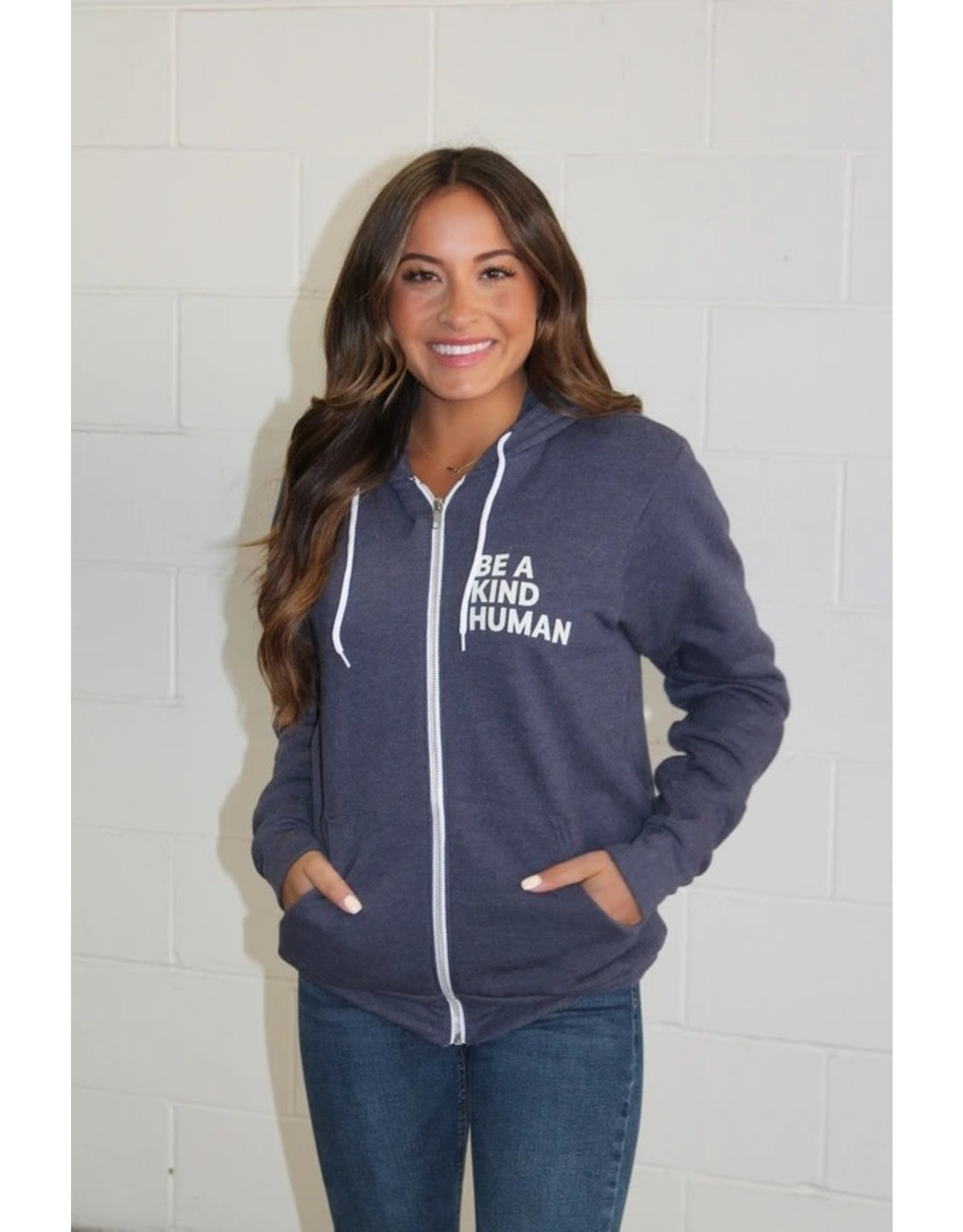 Panache Accessories Be a Kind Human Zip Up Hoodie