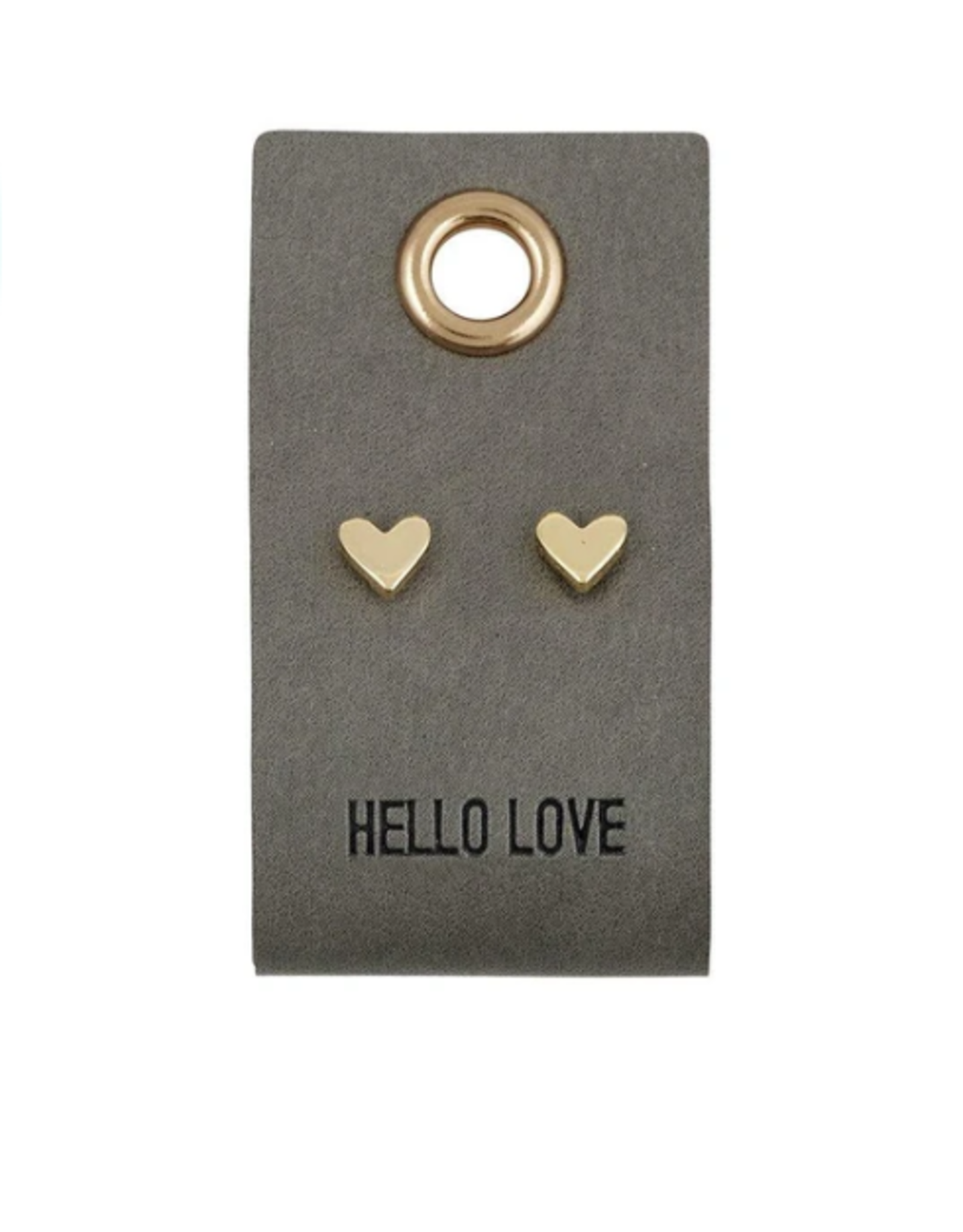 Relish Leather Tag with Earrings