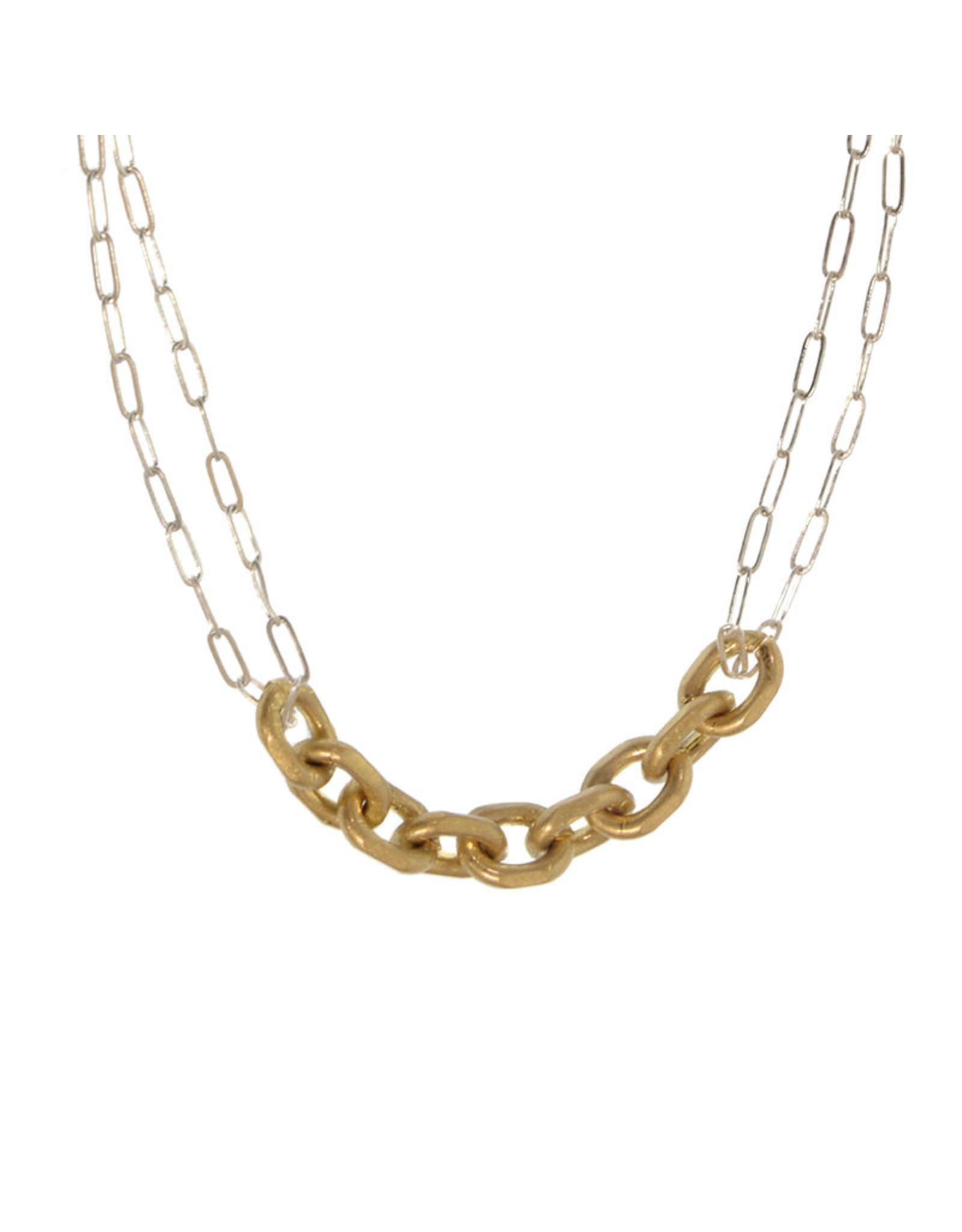 Joy Susan Gold & Silver Chain Link Necklace