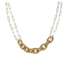 Joy Susan Gold & Silver Chain Link Necklace