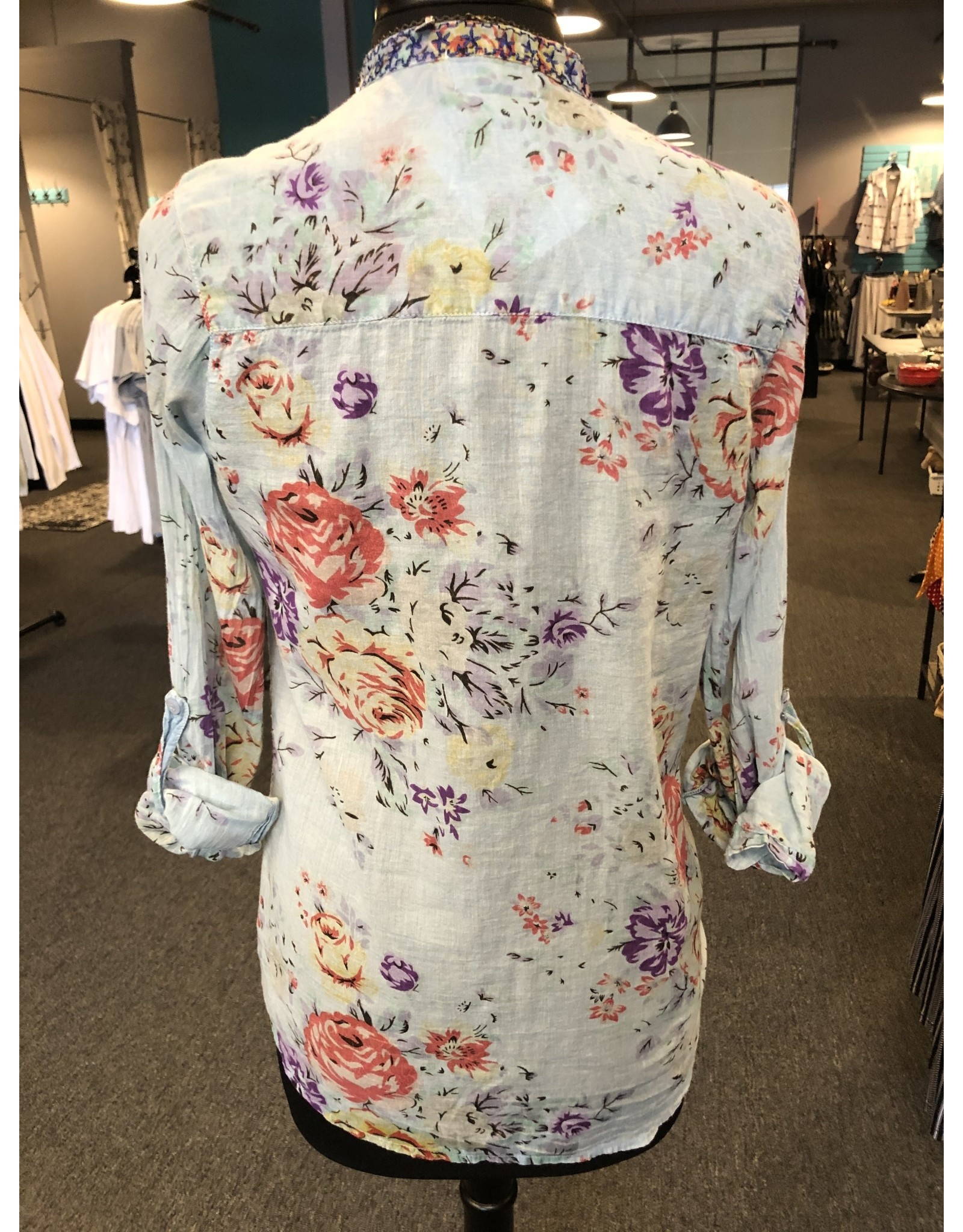The Nu Vintage Embroidered Button Down Top
