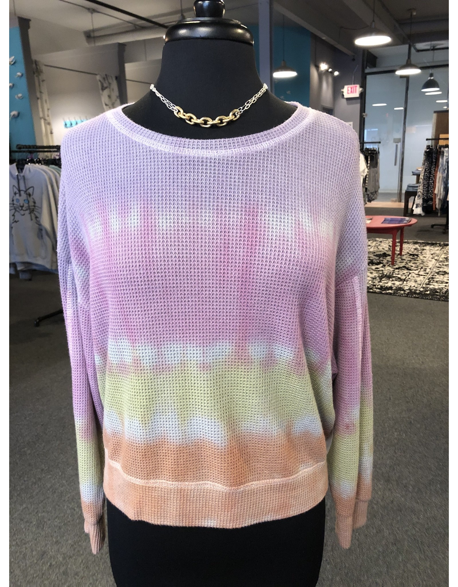 The Nu Vintage Waffle Knit Ombre Top