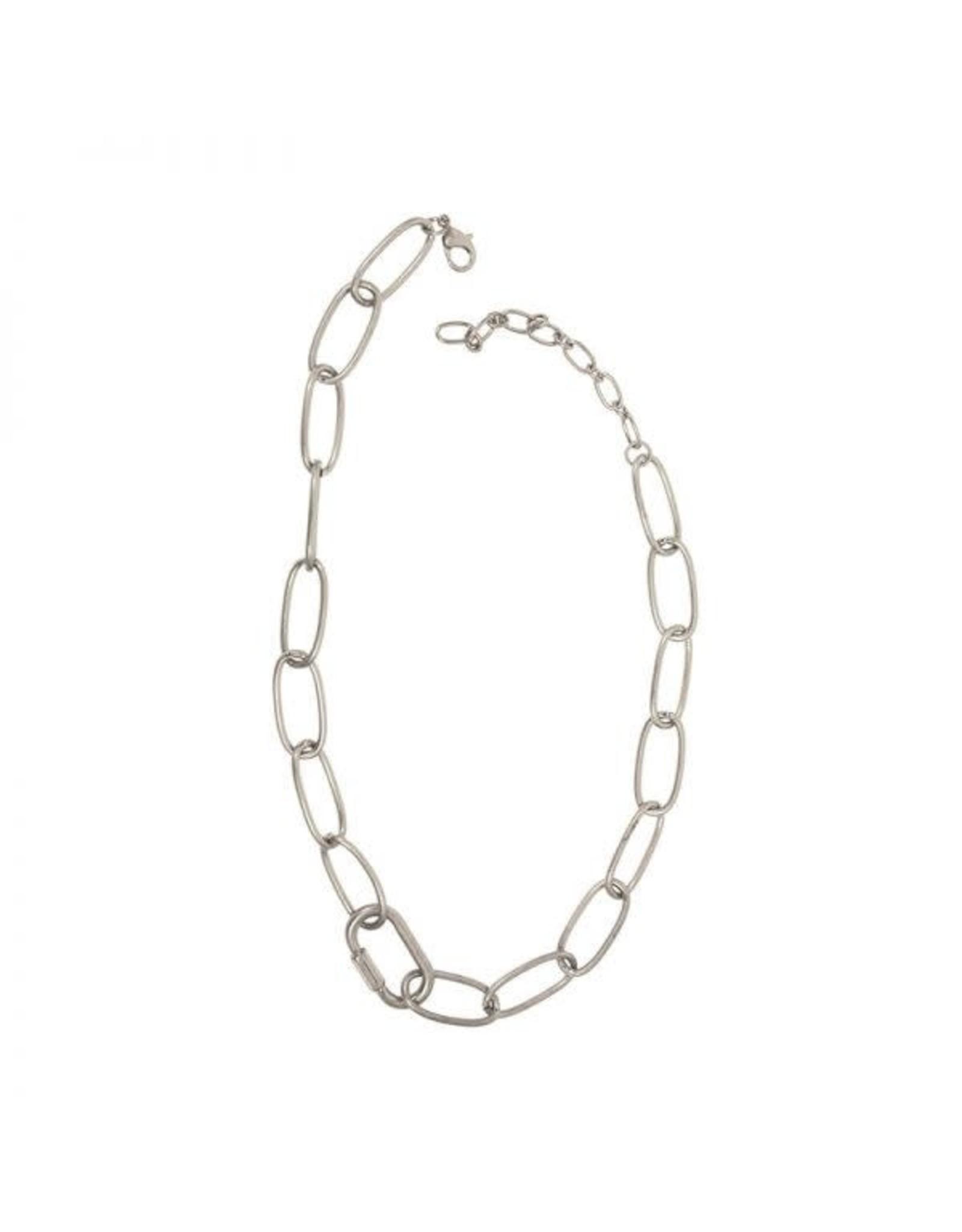 Joy Susan Silver Oval Link Chain Necklace