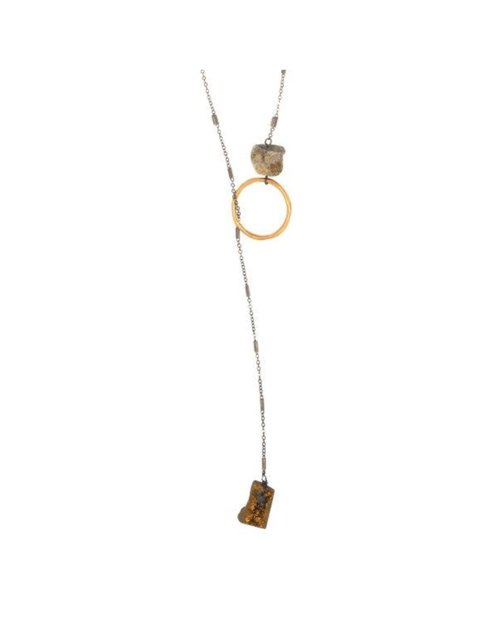 Joy Susan Lariat Druzy Stone Necklace