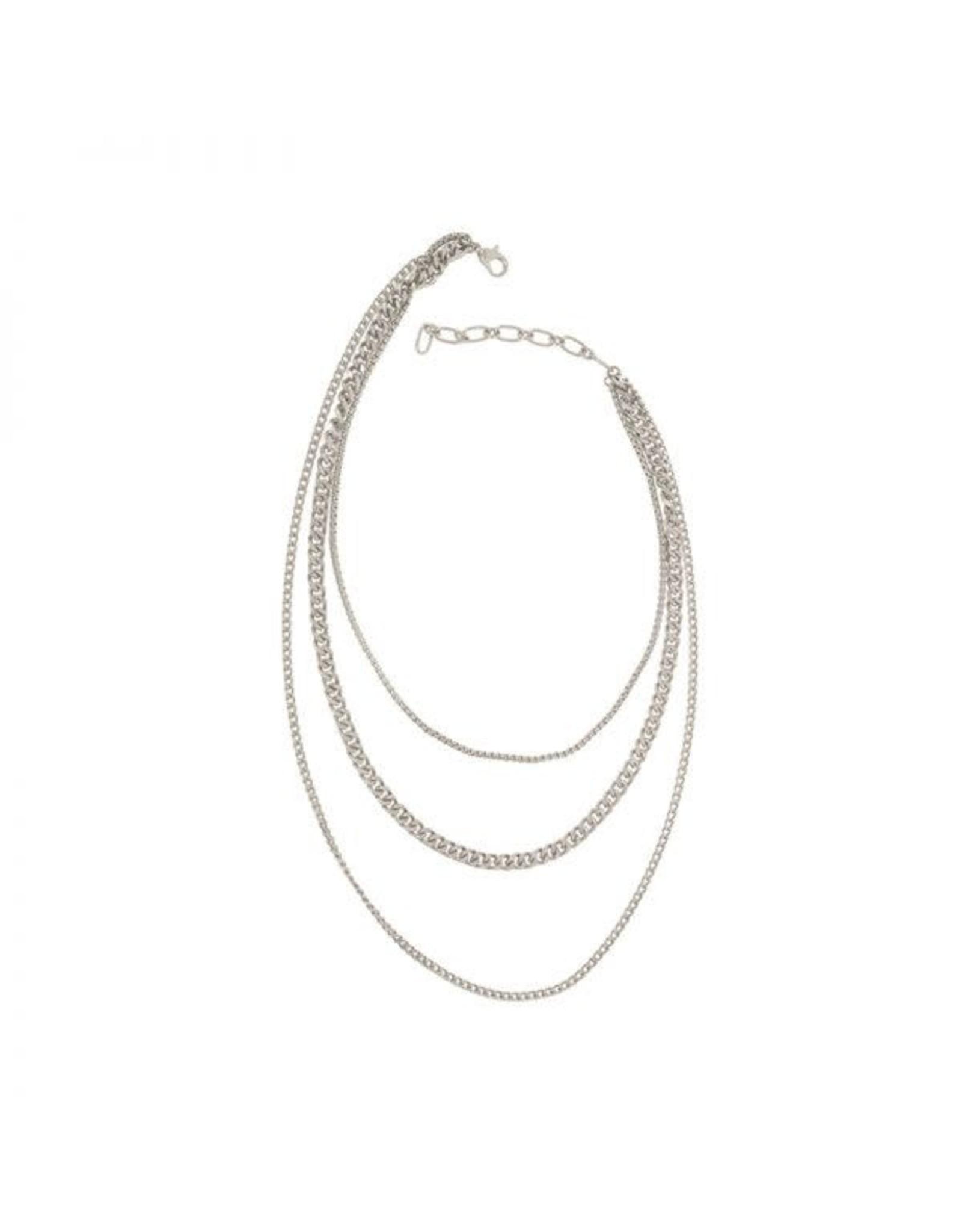 Joy Susan Three Row Layered Chain Necklace