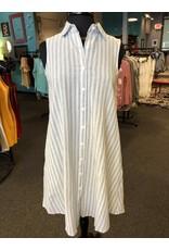 Papillon Button Front A-Line Dress