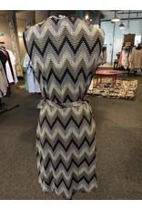 Papillon Texture Chevron Print Dress