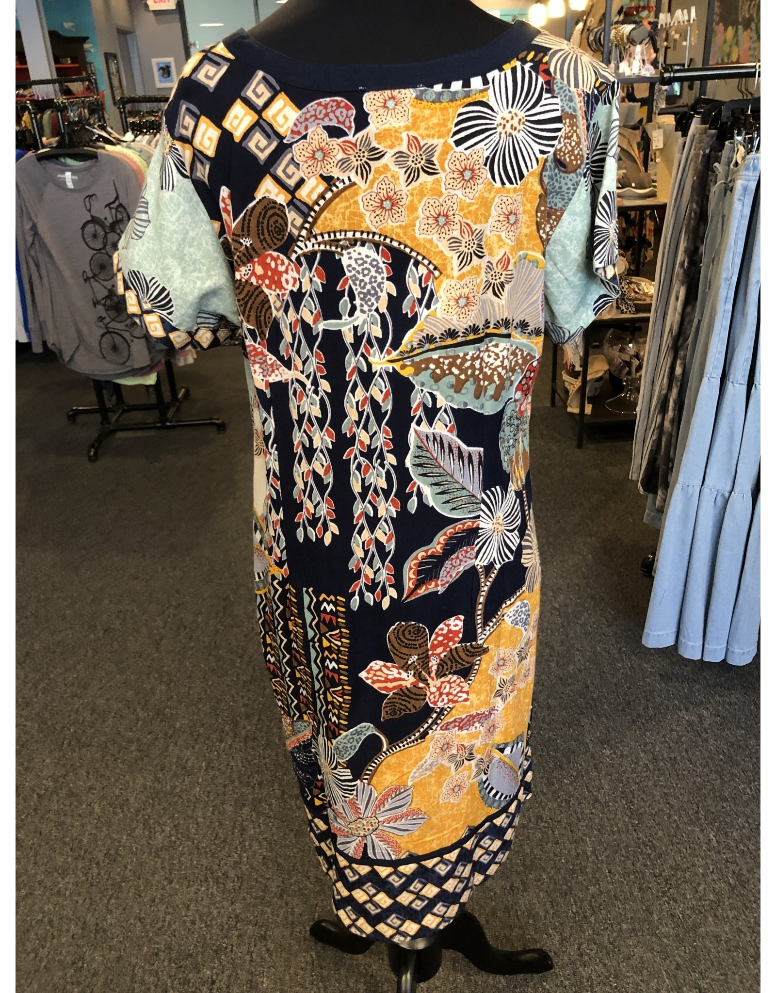 Orientique Embroidered Shift Dress