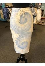 Coin1804 Faux Tie Elastic Waist Pencil Skirt