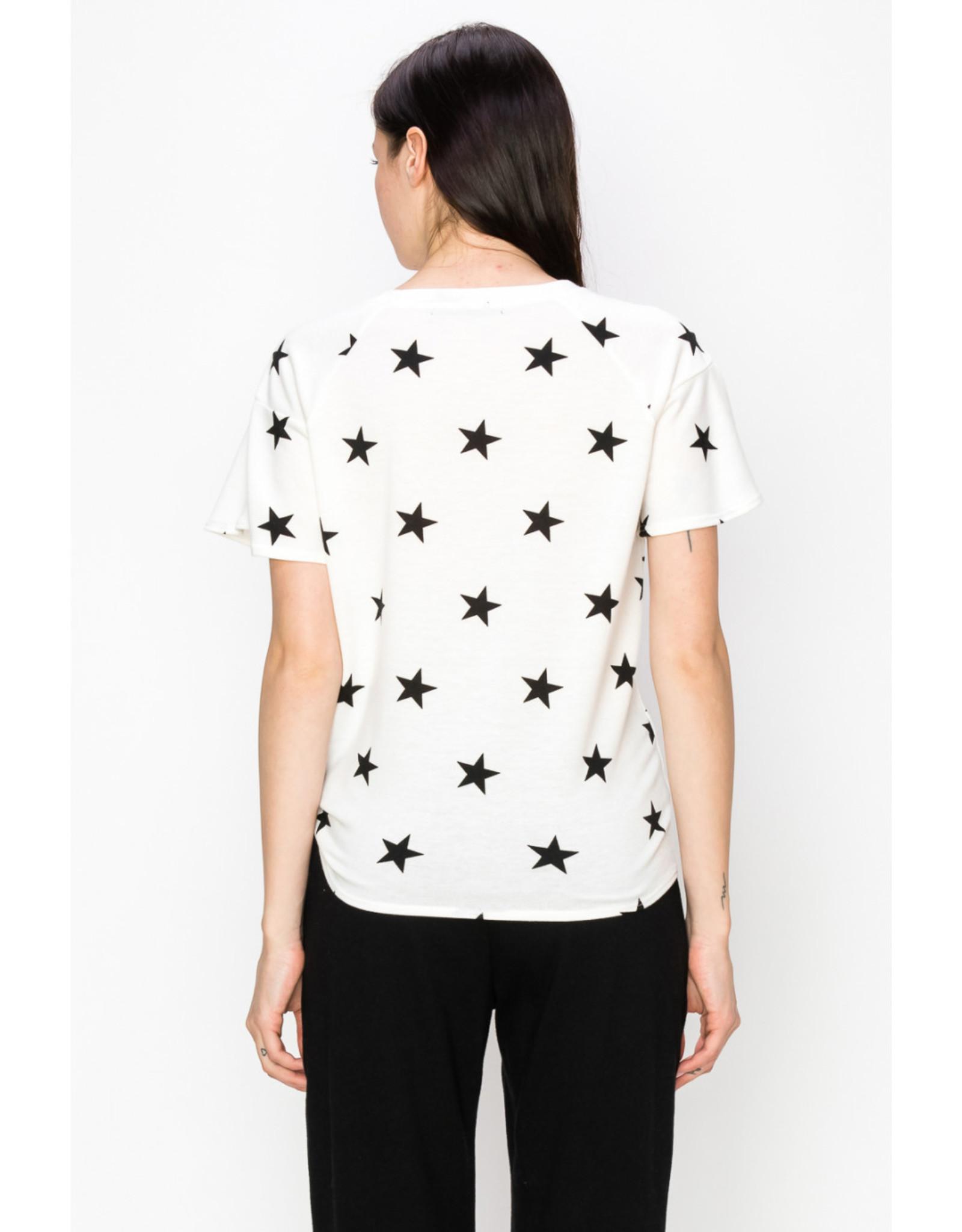 Coin1804 Star Flounce Sleeve Side Tie Top