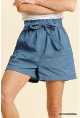 Umgee Paperbag Shorts with Pockets