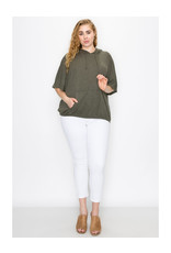 Coin1804 Plus Size Batwing Pocket Hoodie