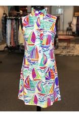 Aryeh Stella Ruffle Neck Dress