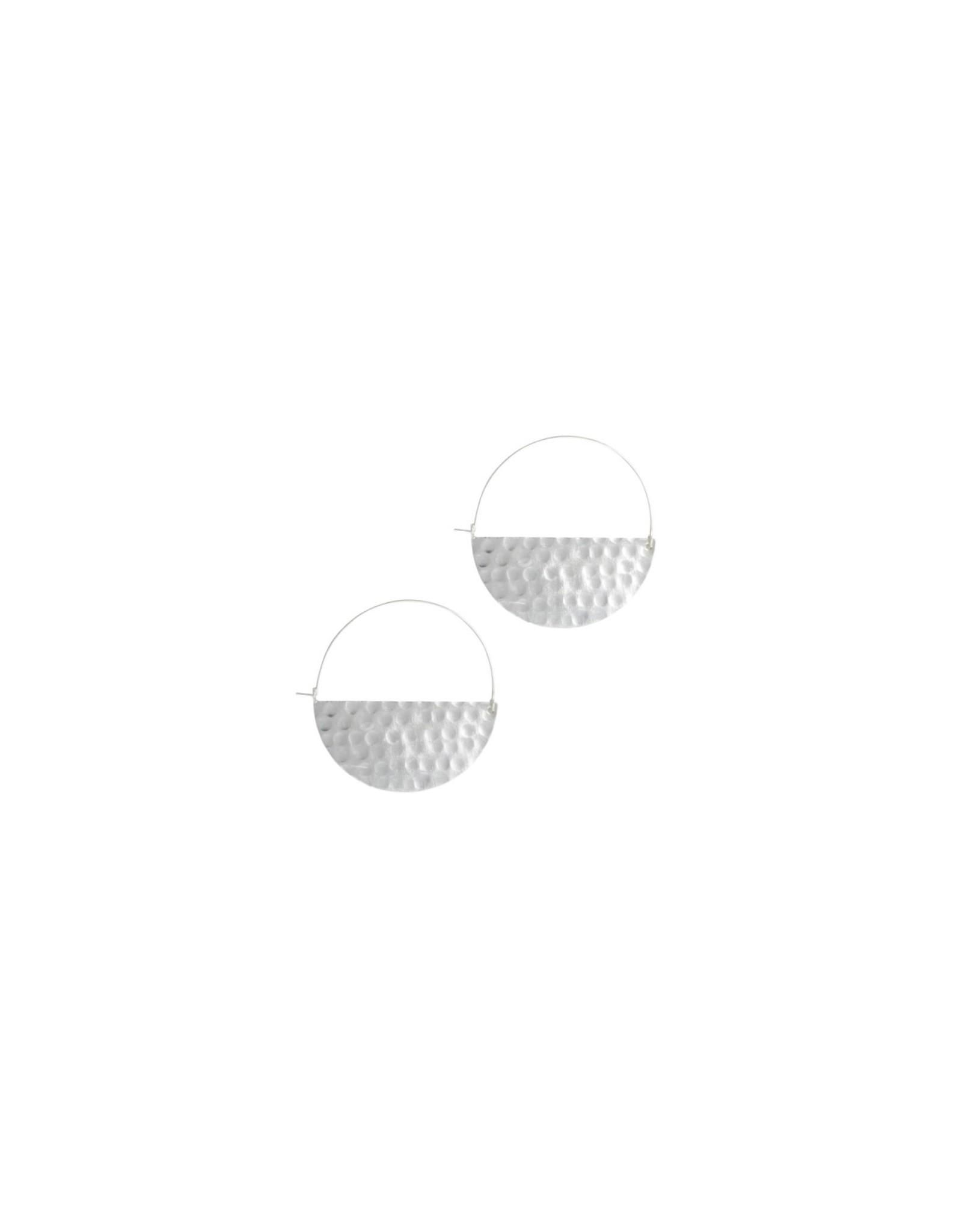 Rover & Kin Silver Small Half Moon Earrings