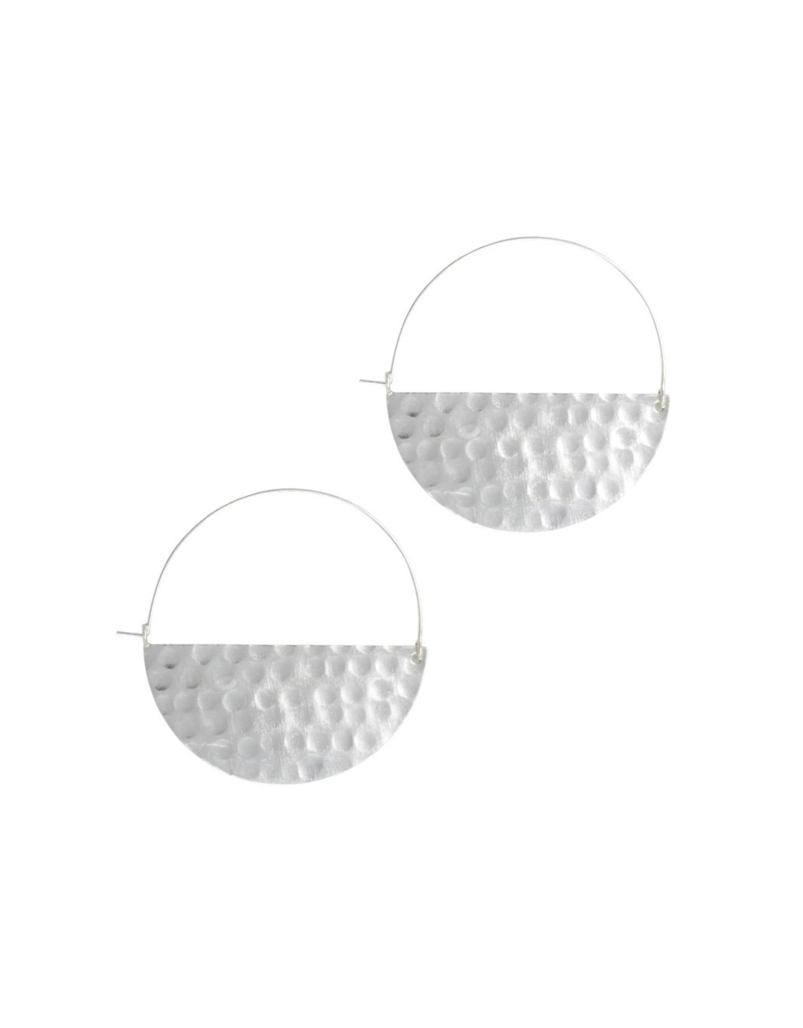 Rover & Kin Silver Large Half Moon Earrings