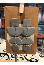 Sand & Soul Multi Statement Geo Clay Earrings