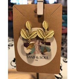 Sand & Soul Mix Print Clay Pot Plant Earrings