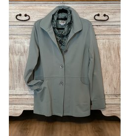 Wild Palms Long Sleeve Solid Color Button Down Fall Jacket