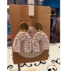 Sand & Soul Textured Clay Rainbow Stud Earrings