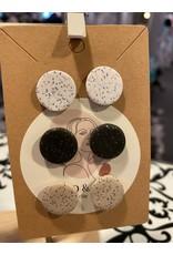 Sand & Soul Circle Clay Stud Earrings - set of 3