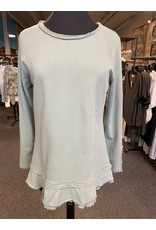 Wild Palms Roll Neck Side Button Tunic