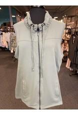 Wild Palms Zip Up Solid Color Vest