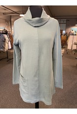 Wild Palms Cowl Neck Top with Thermal Piecing