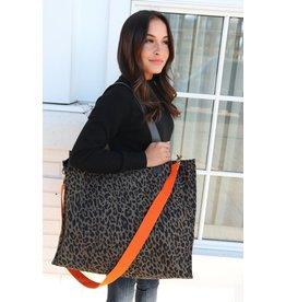 Panache Accessories Leopard Bag with Orange Strap