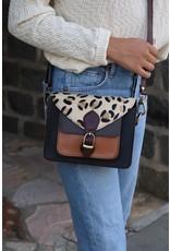 Panache Accessories Leopard & Leather Crossbody