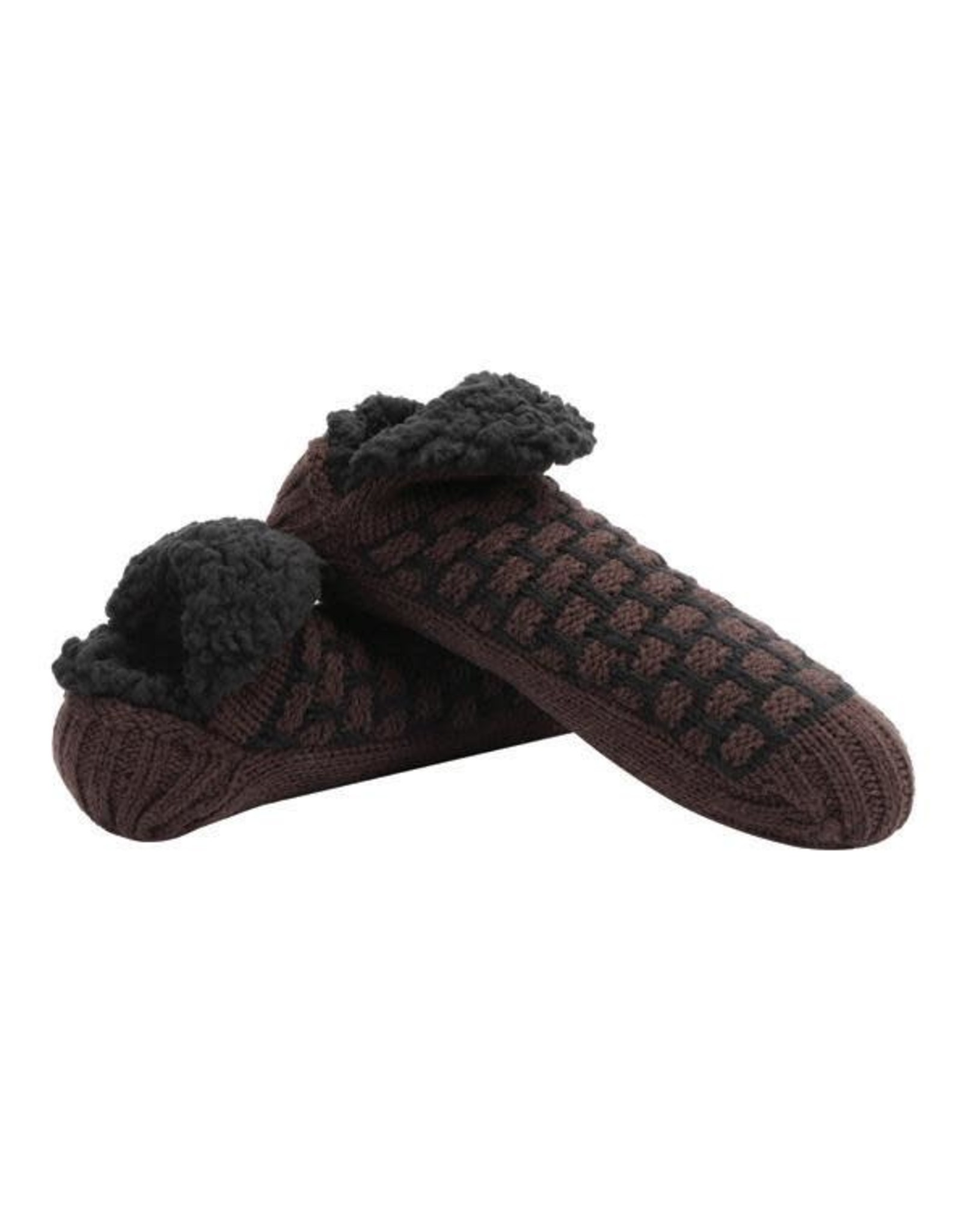 Snoozies Men's Waffle Micro Crew Snoozies
