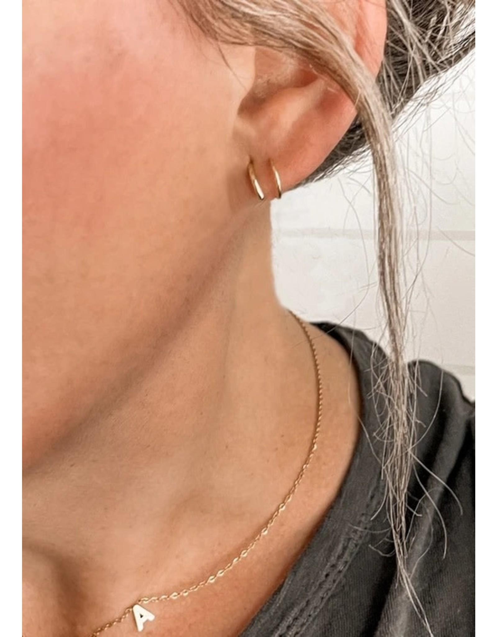 Relish Double Hoop Twist Earrings