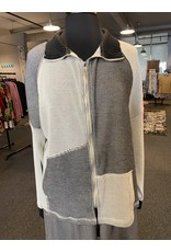 Fenini Textured Patch Zipper Jacket