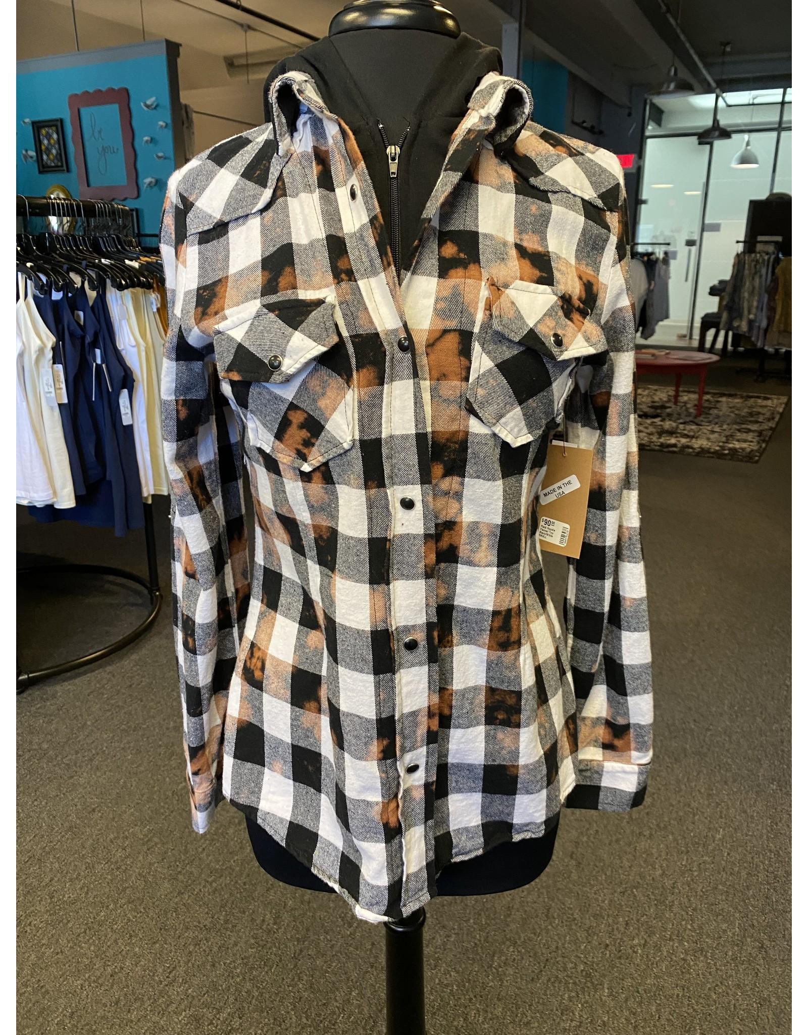 The Nu Vintage Plaid Hoodie Flannel Top