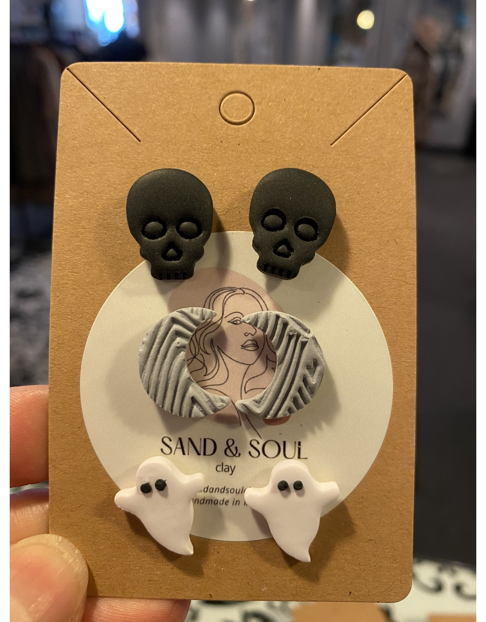Sand & Soul Halloween Clay Stud Pack