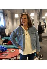 Relish Frayed Bottom Denim Jacket