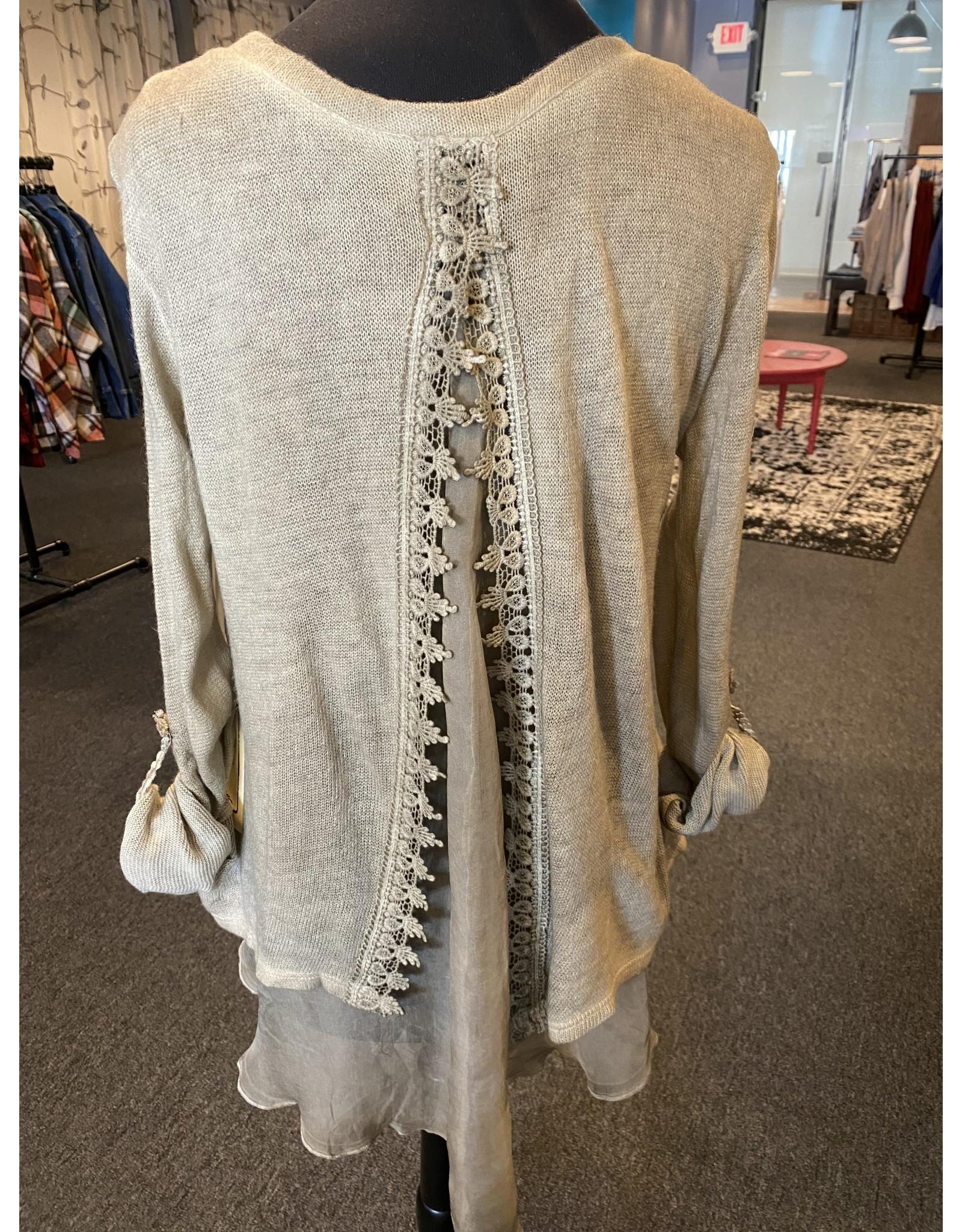 Vintage Concept Detailed Back Sweater