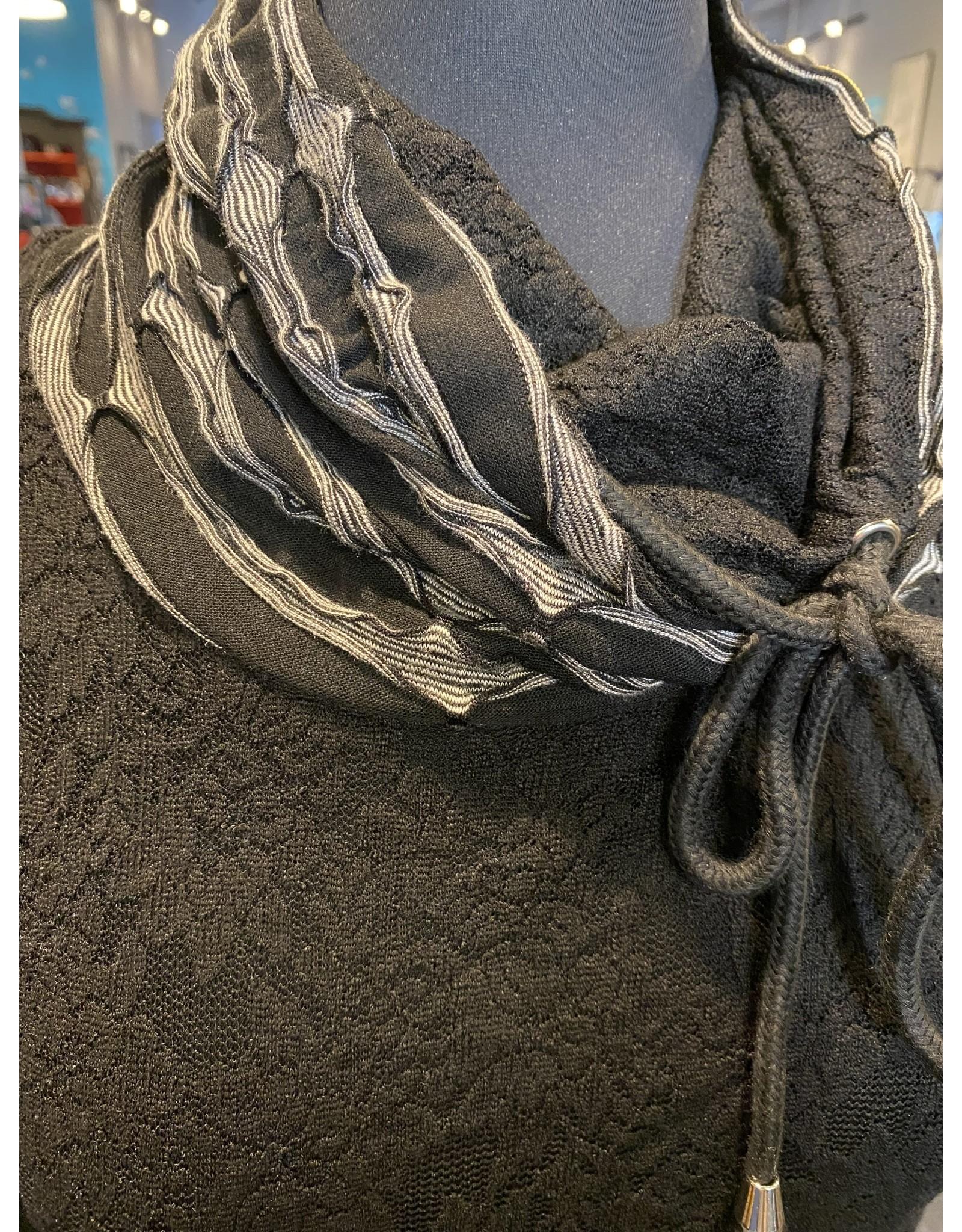 Vintage Concept Cowl Neck Lace Detail Tunic