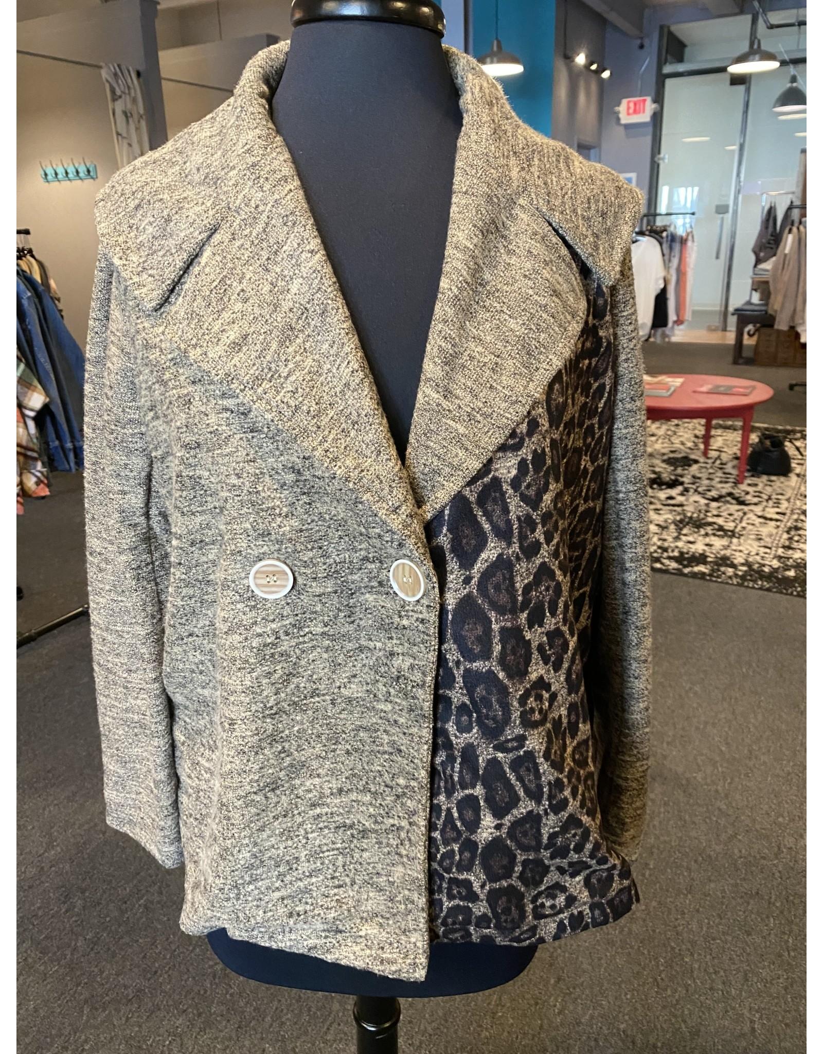 Vintage Concept Multi Detailed Short Jacket