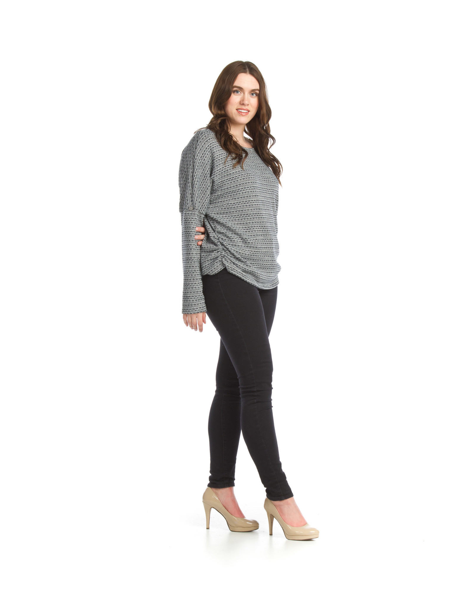 Papillon Stretch Sweater Top