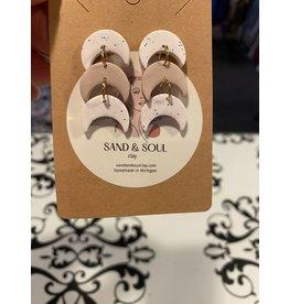 Sand & Soul Tri-Tier Post Clay Earrings